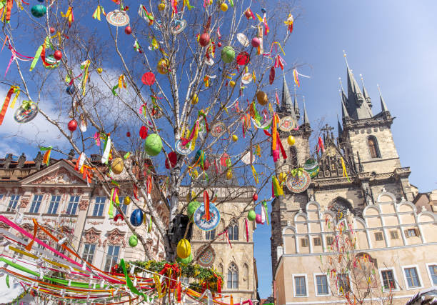 Cтоковое фото Easter tree in Prague