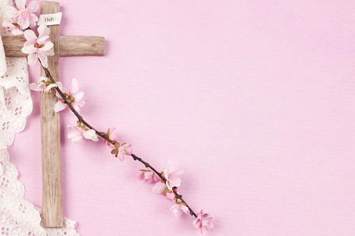 Easter wooden cross