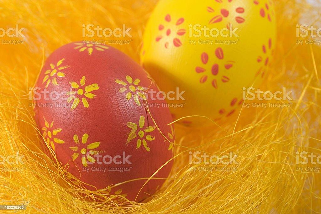 Easteregg nest royalty-free stock photo