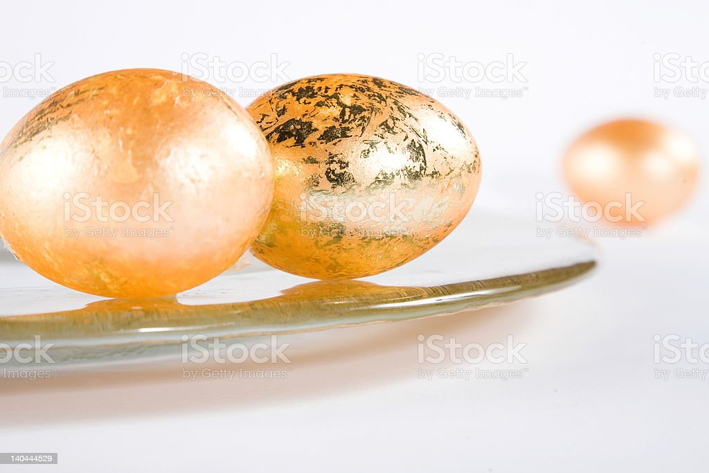 Eastereggs on the table royalty-free stock photo