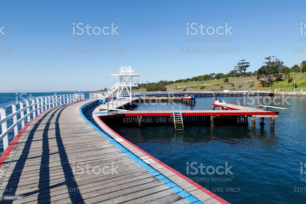 Eastern Beach Swimming Enclosure - Geelong stock photo