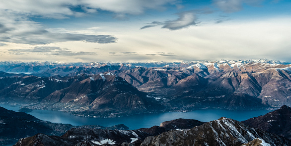 Alps and eastern branch of Lake Como