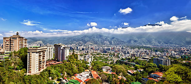 eastern caracas city aerial view at early morning - venezuela stock photos and pictures