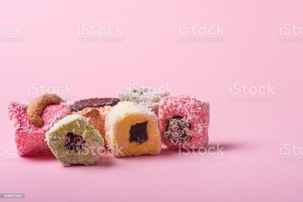 Eastern colorful sweets stock photo