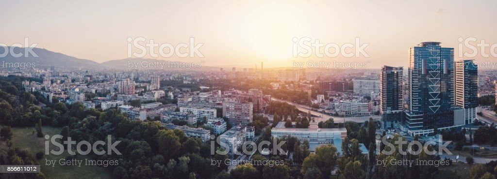 Eastern Europe,drone point of view stock photo