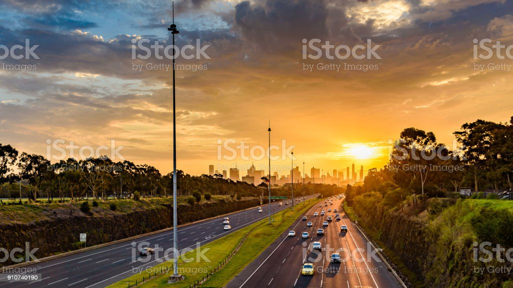 Eastern Freeway stock photo