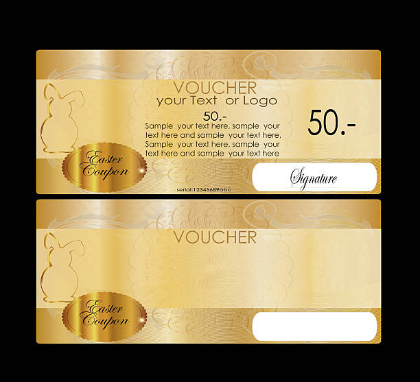 eastern gift certificate (voucher / coupon) - guilloche stock photos and pictures