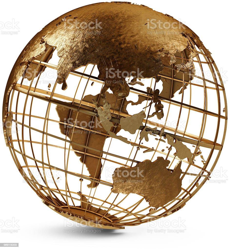 Eastern Hemisphere Globe royalty-free stock photo
