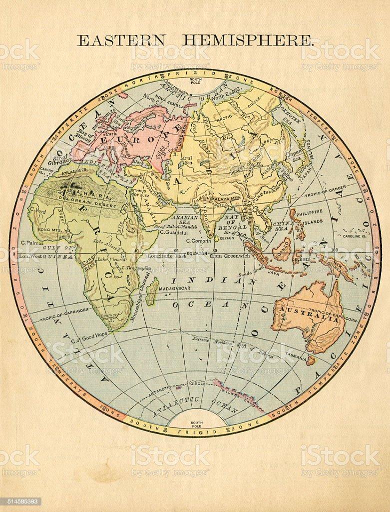 Eastern Hemisphere stock photo