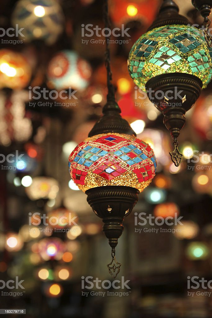 eastern lanterns stock photo