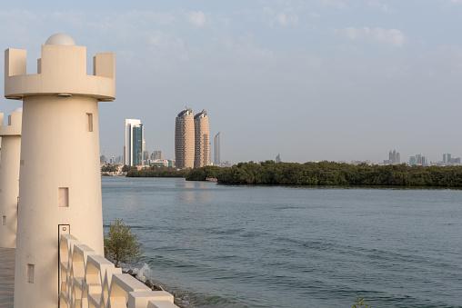 Oostelijke Mangroves Abu Dhabi Verenigde Arabische Emiraten Stockfoto en meer beelden van Abu Dhabi