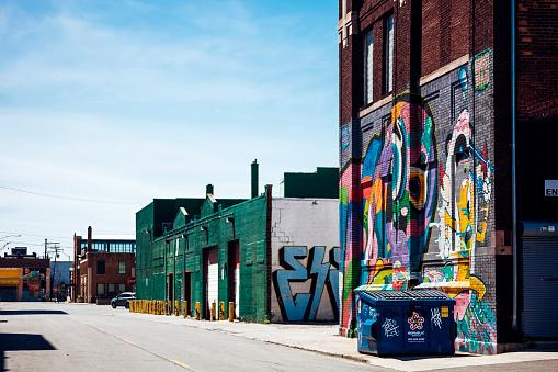 Eastern Market Detroit Michigan - Fotografie stock e altre immagini di Abbandonato