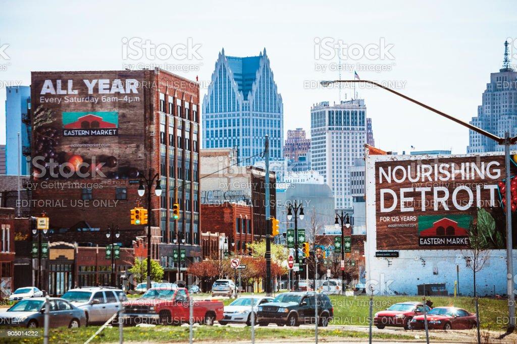 Eastern Market, Detroit stock photo