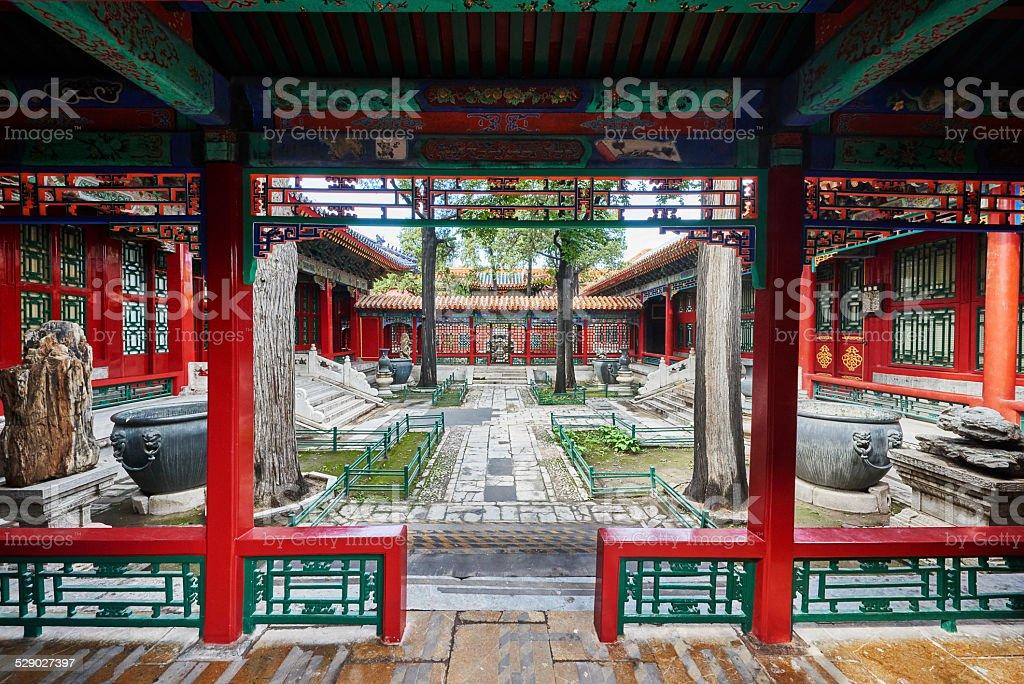 Eastern Palace Forbidden City Beijing China stock photo