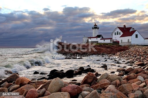 Eastern Point Lighthouse is situated at the eastern tip of Massachusetts Gloucester Harbor.  The lighthouse is currently operated by the United States Coast Guard.