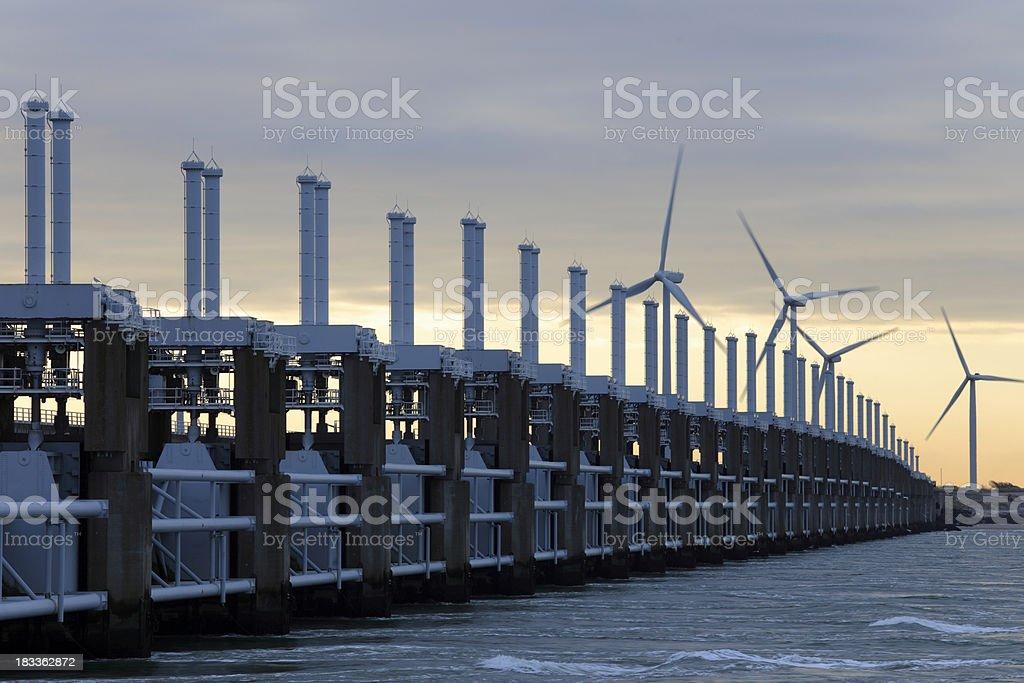 Eastern Scheldt Storm Surge Barrier stock photo