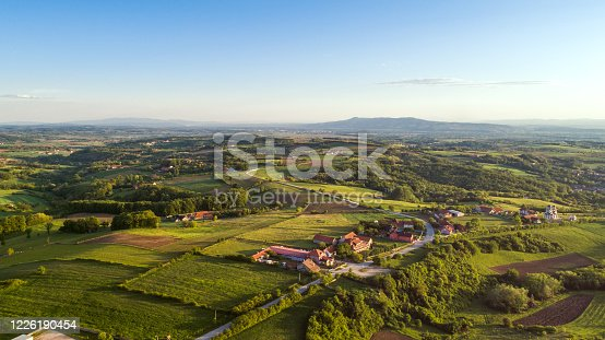A drone point of view of a beautiful eastern Serbia.