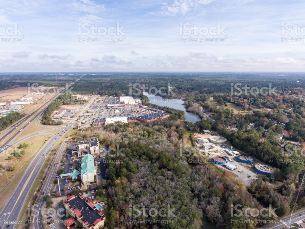 Eastern shore of Mobile Bay royalty-free stock photo