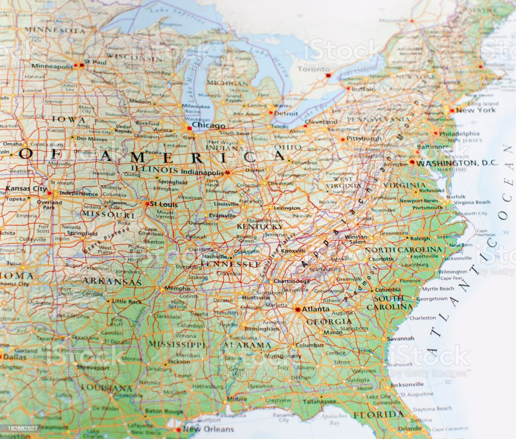 eastern united states stock photo