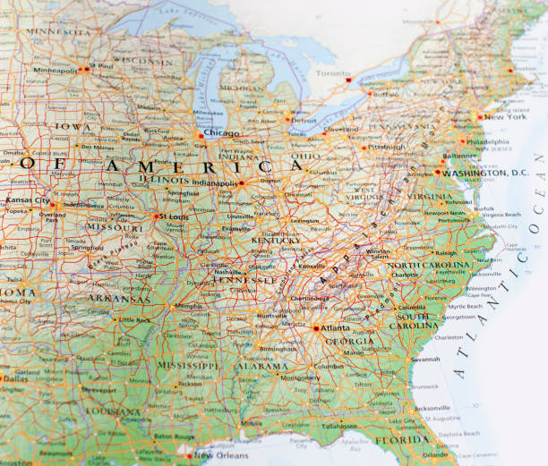 eastern united states map of eastern united states east stock pictures, royalty-free photos & images