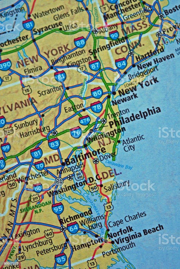 Eastern Usa Karte Stockfoto und mehr Bilder von ...