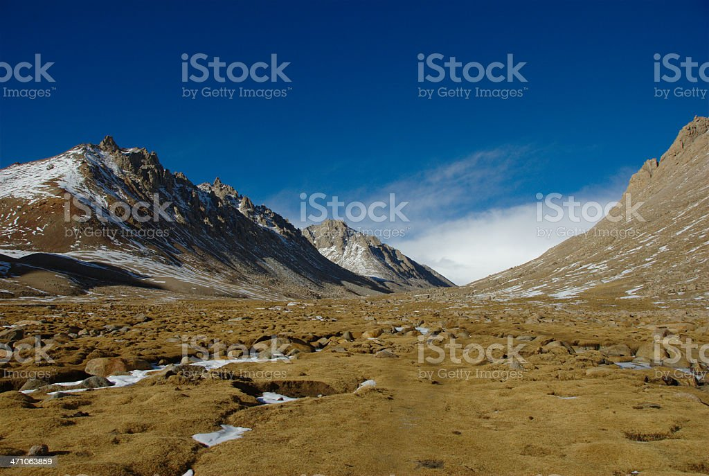 Eastern valley of Mount Kailash (Gang Rinpoche, Tibet) stock photo