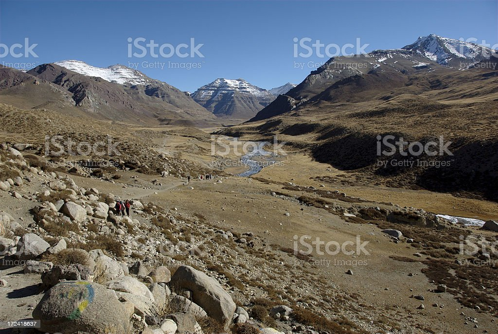 Eastern Valley of Mt Kailash (Gang Rinpoche, Tibet) stock photo