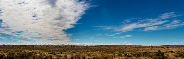 Eastern Washington Palouse vast expanse flat desert view stock photo