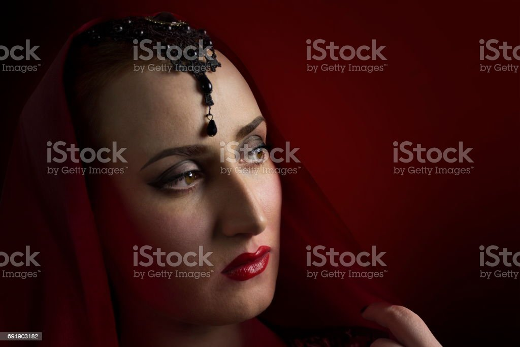 Eastern woman portrait photo. stock photo
