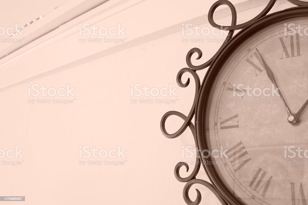 Eastern-Style Clock 2 royalty-free stock photo