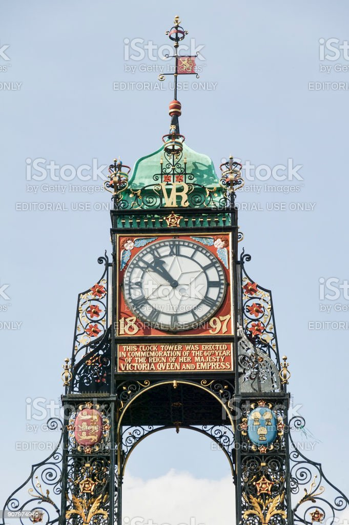Eastgate Clock, Chester stock photo
