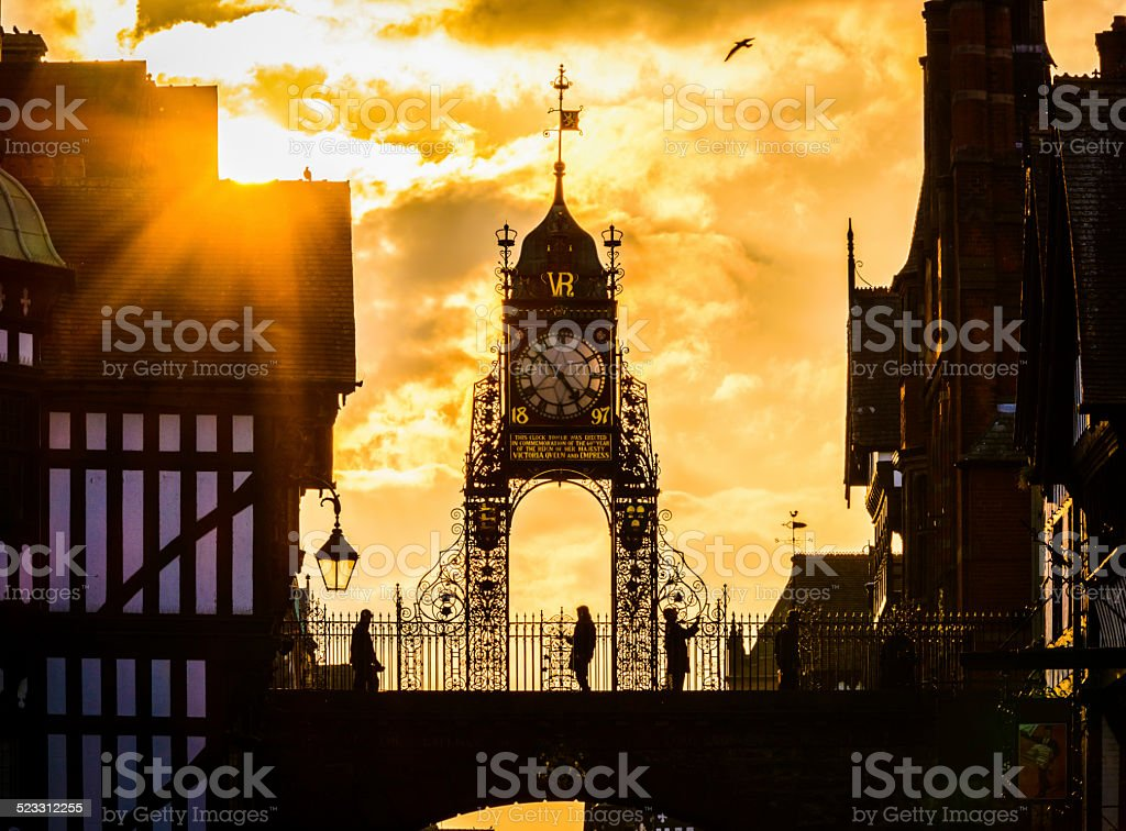 Eastgate Clock stock photo