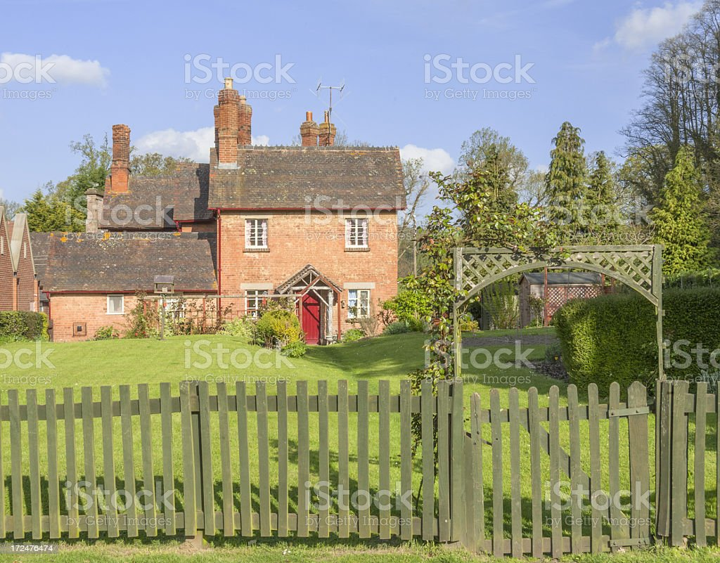 Eastnor Village Herefordshire stock photo