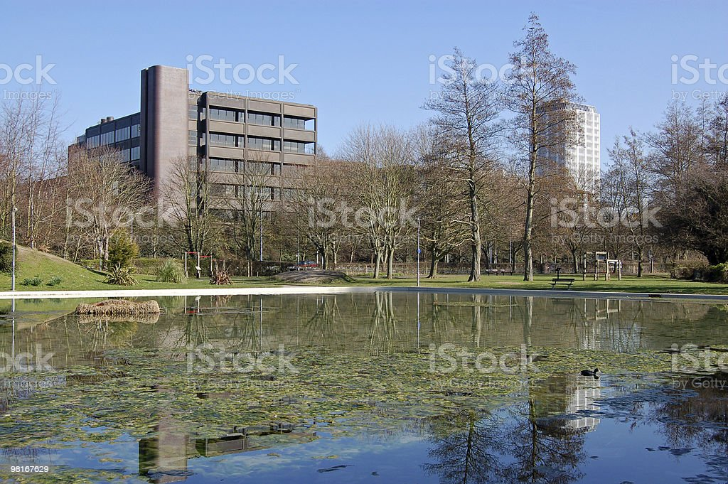 Eastrop Park, Basingstoke foto stock royalty-free
