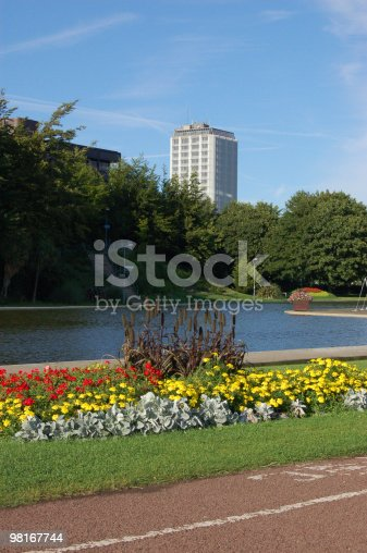 Eastrop Park Basingstoke Stock Photo & More Pictures of August
