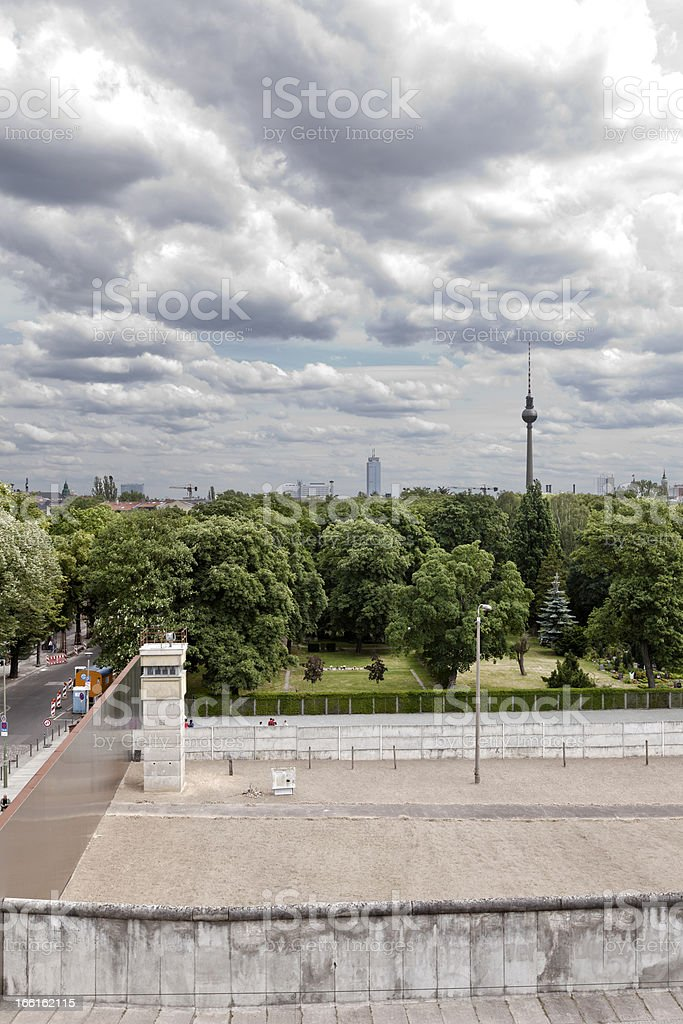 East-West Berlin Original Border Section royalty-free stock photo