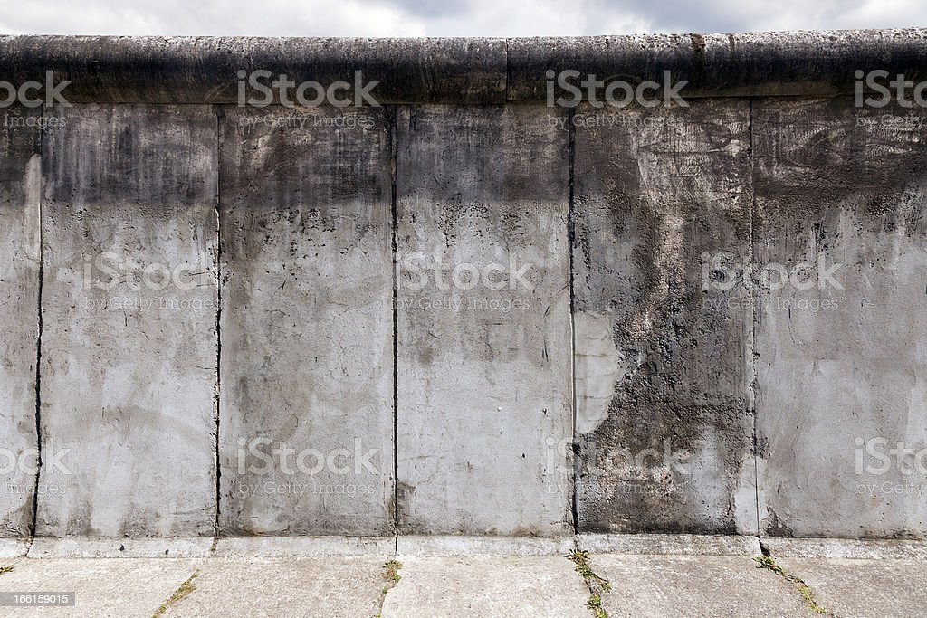East-West Berlin Original Wall Section stock photo