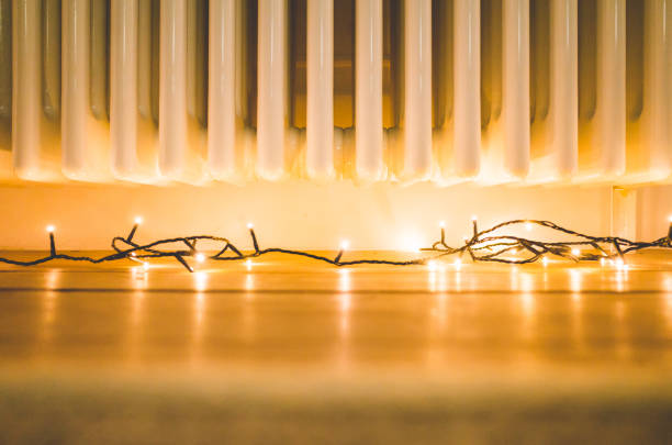 Easy and Cosy Christmas Decoration stock photo