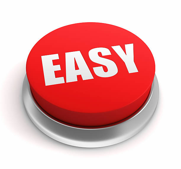 Easy Button Easy Button smooth stock pictures, royalty-free photos & images