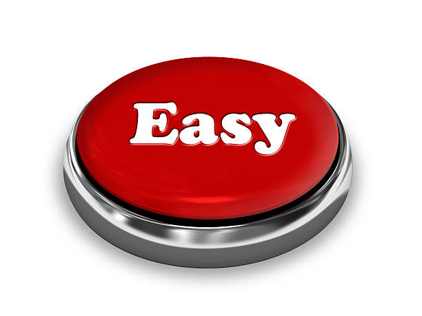 Easy Button Easy Button - Red smooth stock pictures, royalty-free photos & images