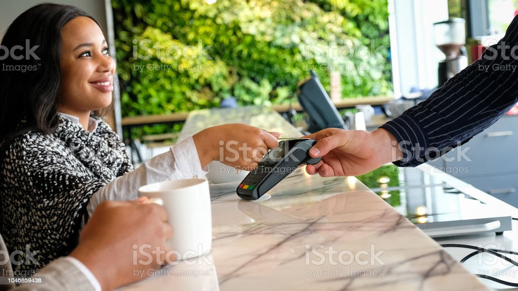 Easy contactless Card Payment stock photo