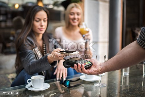 istock Easy contactless payment system 521796134