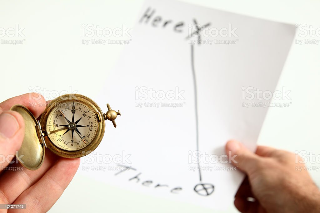 Easy Directions royalty-free stock photo