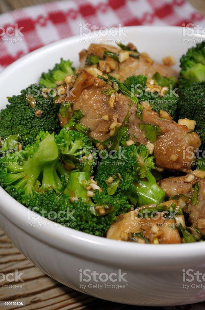 Easy Garlic and Ginger  Glazed Sticky Pork stock photo
