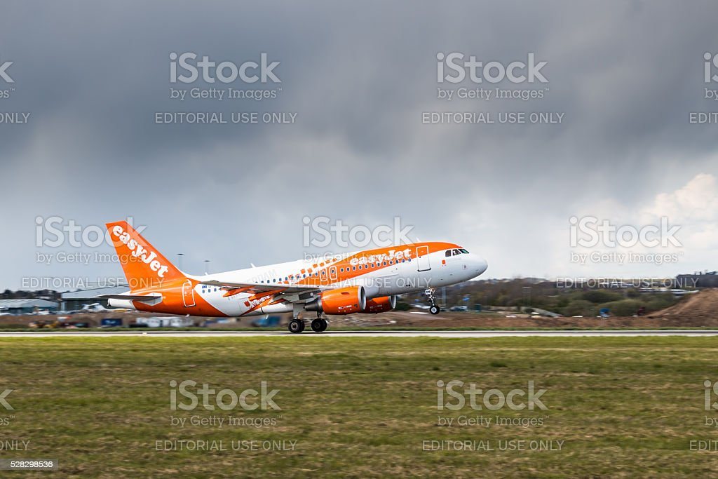 Easy Jet takes off stock photo