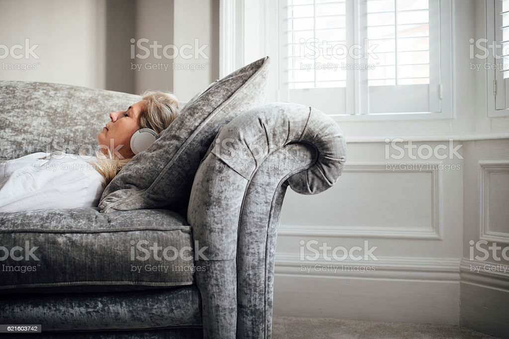 Easy Listening at Home stock photo