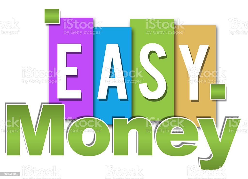 Easy Money Professional Colorful stock photo