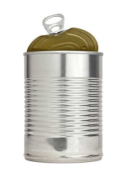 Leicht öffnen und Zuglasche aus Metall mit besten Speisen angesprochen – Foto