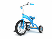 A rendered 3D image of a kids' trike.