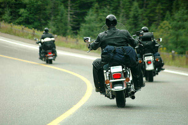 easy riders 3 - biker stock photos and pictures